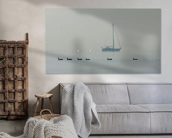 Sfeerimpressie: IJsselmeer, Nederland van Beschermingswerk voor aan uw muur