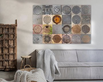 Putdeksels collage van Carin du Burck