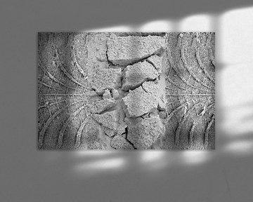 Drieluik sporen strand Terschelling