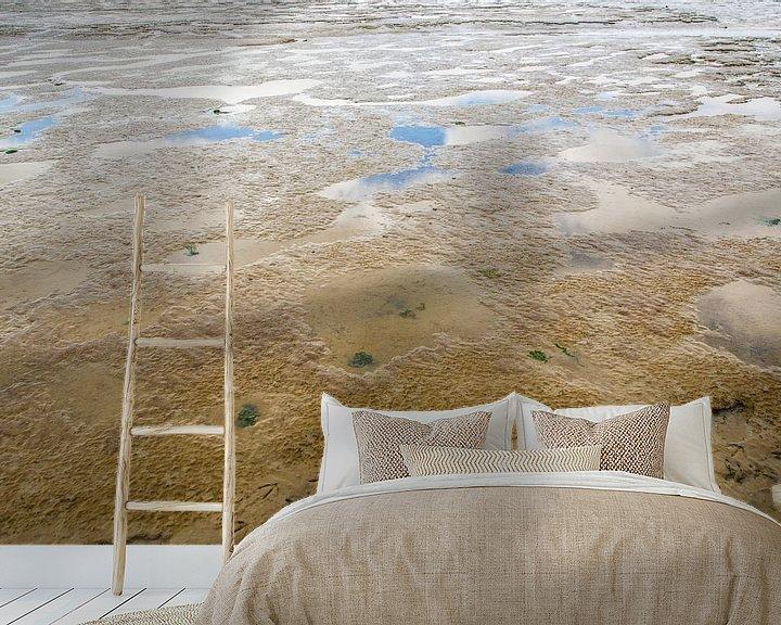 Sfeerimpressie behang: Waddenzee bij eb van Brian Morgan
