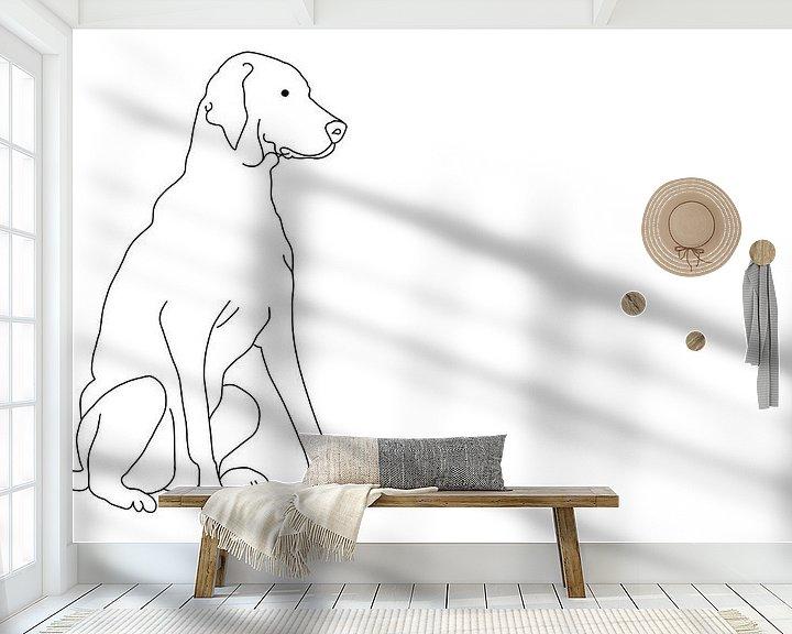 Sfeerimpressie behang: Vizsla van MishMash van Heukelom
