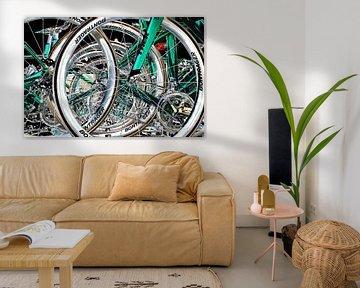 Rennradräder auf dem Dach von Eugene Winthagen