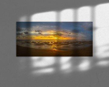 Zonsondergang bij de Slufter, Texel, Nederland