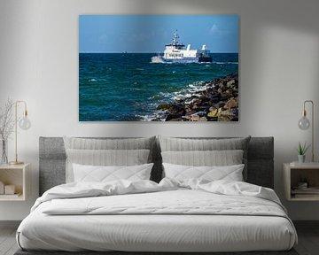 Schiff auf der Ostsee in Warnemünde von Rico Ködder