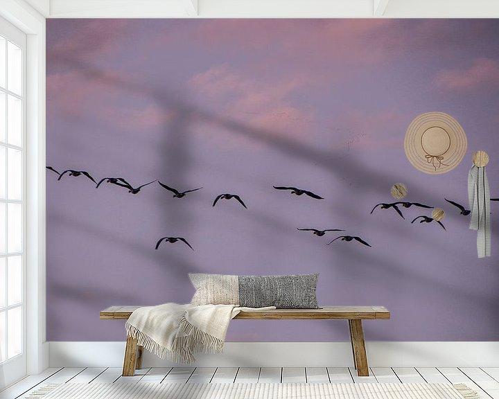 Sfeerimpressie behang: Fly Away van Anna Groenia