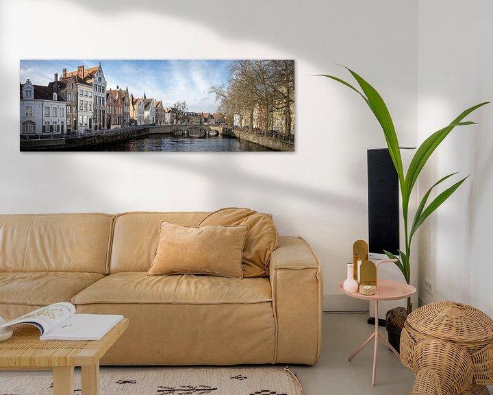 Sfeerimpressie: Panorama Brugge Belgium winter van Remco van Adrichem