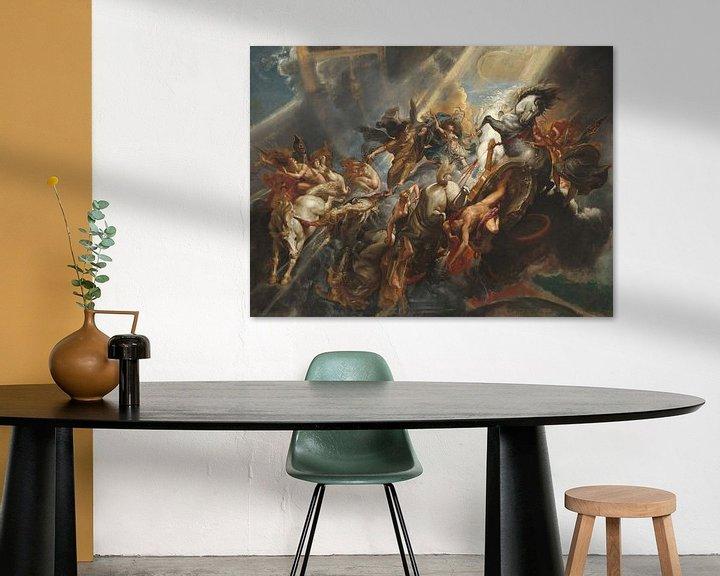 Sfeerimpressie: De val van Phaëton, geschilderd door Peter Paul Rubens