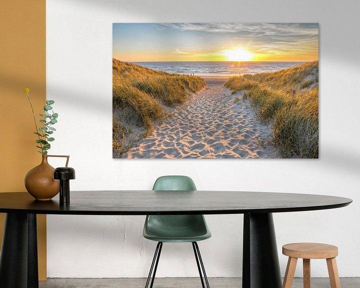 Sfeerimpressie: Strandopgang Texel / Beach entrance Texel van Justin Sinner Pictures ( Fotograaf op Texel)