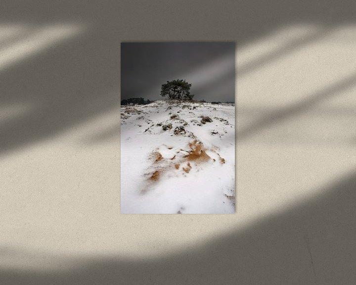 Sfeerimpressie: Sneeuw en Zand III van Mark Leeman