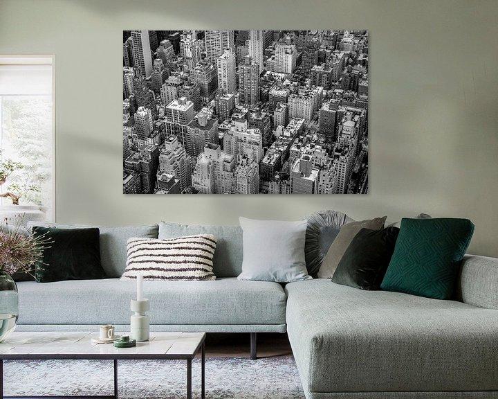 Sfeerimpressie: New York City van Bovenaf van Hans Moerkens