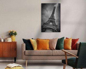 PARIJS eiffeltoren, in het regen-en Onweersbuien van Melanie Viola