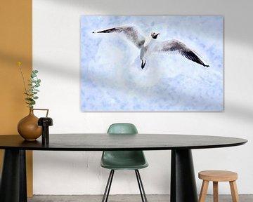 Lachmöwe genießt ihre Freiheit von Art by Jeronimo