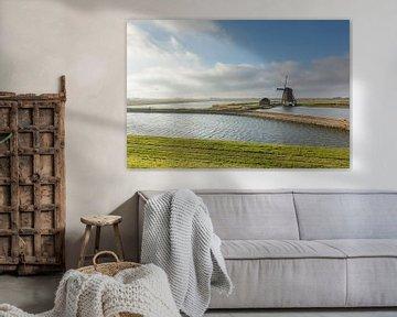 Oude Windmolen Het Noorden op Texel, Noord Holland van Martin Stevens