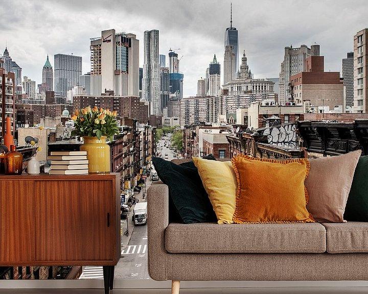 Sfeerimpressie behang: New York streets - Manhattan van Roger VDB