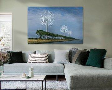 Moderne Windmühlen