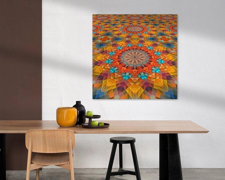 Sfeerimpressie: Mandala Perspectief 3 van Marion Tenbergen