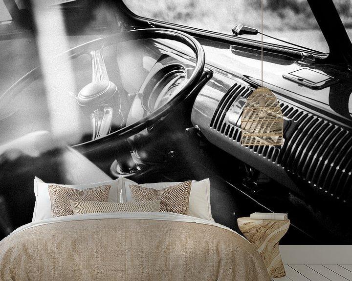 Sfeerimpressie behang: 1959 Volkswagen T1 interieur van Wim Slootweg