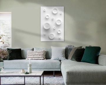 Weiße Kreise von Jörg Hausmann
