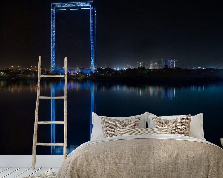 Sfeerimpressie behang: Dubai Frame impressie van Rene Siebring