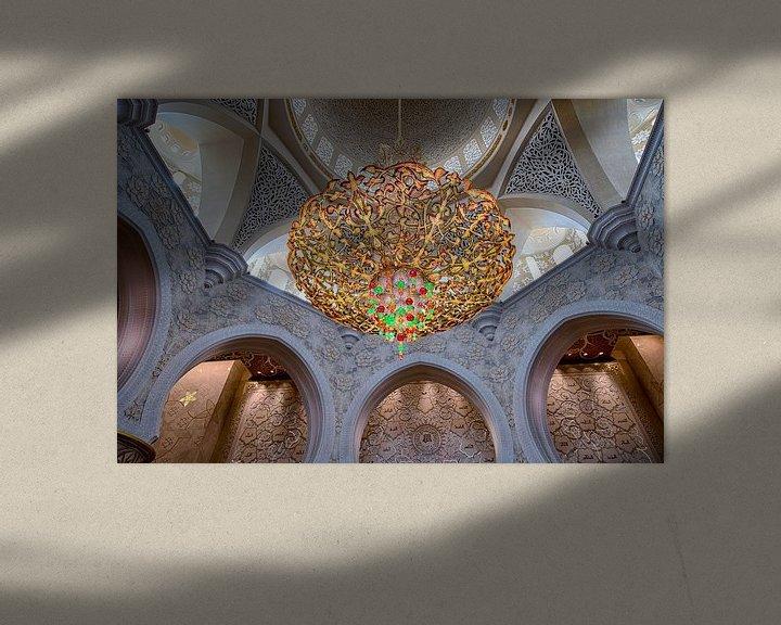 Sfeerimpressie: Kroonluchter in Sheikh Zayed-moskee van Rene Siebring
