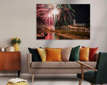 Vuurwerk bij Deventer van VOSbeeld fotografie