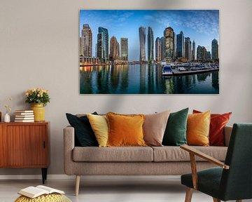 Dubai Marina bei Sonnenaufgang von Rene Siebring
