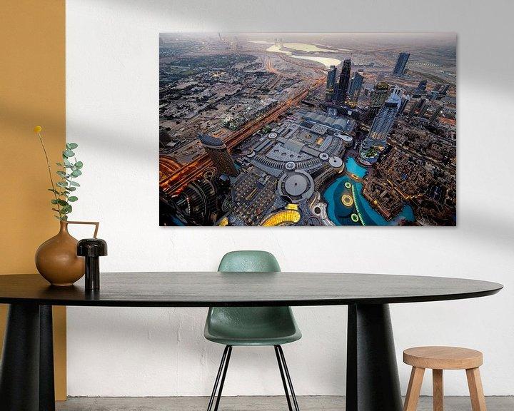 Sfeerimpressie: Dubai Mall van bovenaf van Rene Siebring