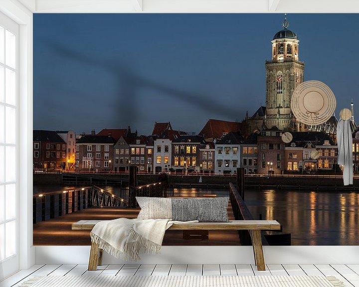 Sfeerimpressie behang: Hanzestad Deventer in de avond van VOSbeeld fotografie
