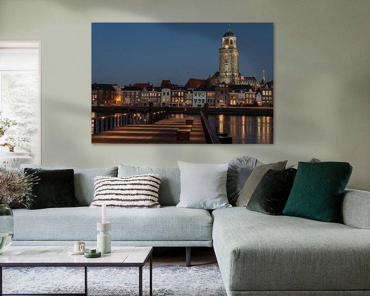 Sfeerimpressie: Hanzestad Deventer in de avond van VOSbeeld fotografie