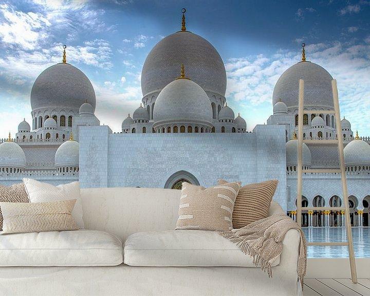 Sfeerimpressie behang: Hoofdingang van de Sheikh Zayed-moskee van Rene Siebring