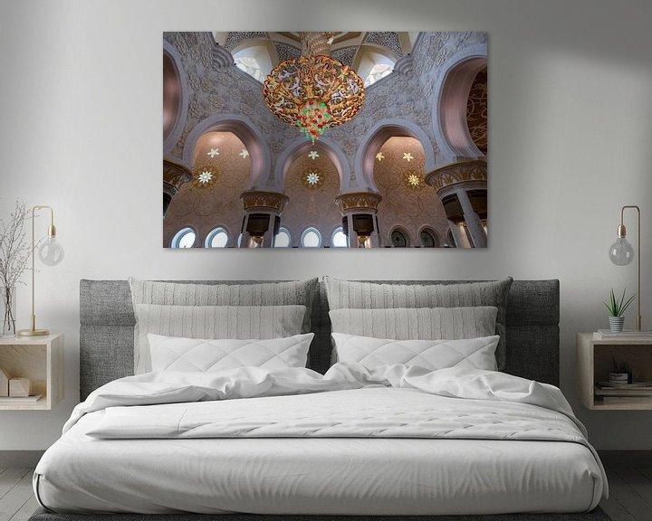 Sfeerimpressie: Interieur van de Sheikh Zayed-moskee van Rene Siebring