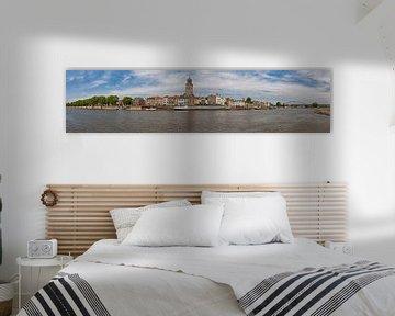 Panorama van de Deventer skyline van VOSbeeld fotografie