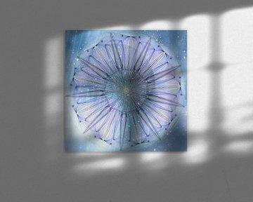 Mandala - hemelbloem van Christine Nöhmeier