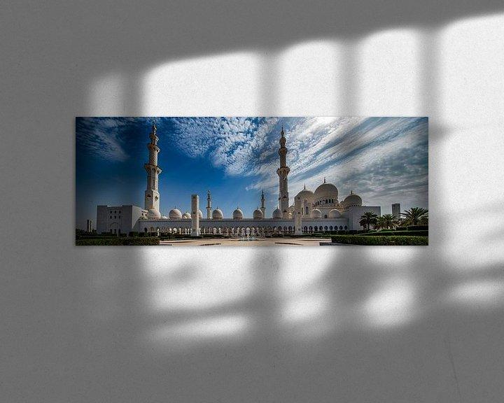 Sfeerimpressie: Fontein voor Sheikh Zayed Mosque in Abu Dhabi van Rene Siebring