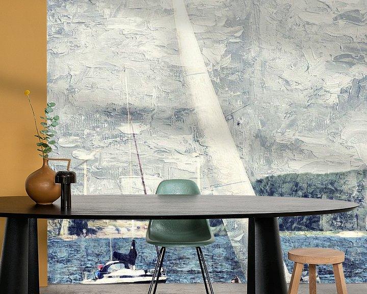 Sfeerimpressie behang: Sail away van Art by Jeronimo