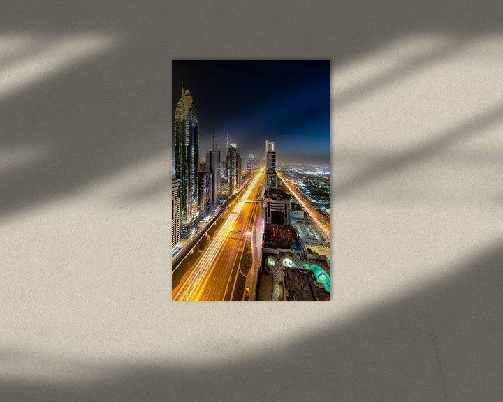 Sfeerimpressie: Sheikh Zayed Road Dubai van Rene Siebring