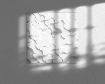 Weiße runde Rauten von Jörg Hausmann