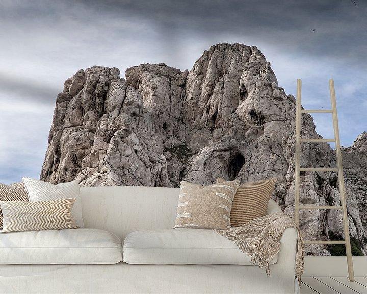 Sfeerimpressie behang: Île Maïre IV van Michael Schulz-Dostal