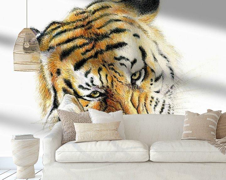 Sfeerimpressie behang: Siberische tijger van Bianca Snip