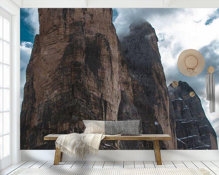 Sfeerimpressie behang: Drei zinnen in the Dolomites van michael regeer
