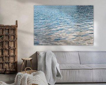 wateroppervlakte met pasteltinten en patronen von Hanneke Luit