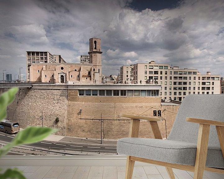 Sfeerimpressie behang: Marseille I van Michael Schulz-Dostal