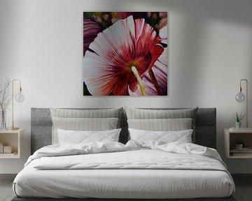 """Bloem, roze papaver1 van Janny Schilderink......Atelier """"de Tuute """""""
