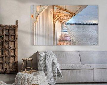 Strandhuisje aan Belgische Kust