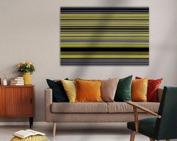 Streifenbild Schwarz Gelb von Andree Jakobson