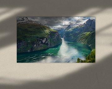 Geirangerfjord, Norvège sur Dirk Jan Kralt