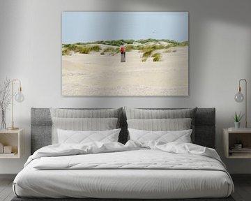 Paaltje op Ballum strand Ameland