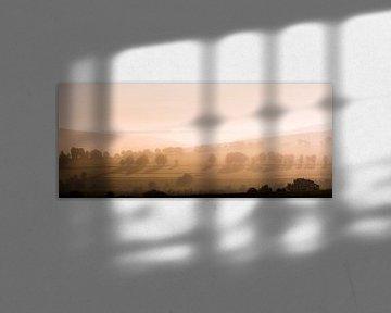 Mistige ochtend van Olivier Chattlain