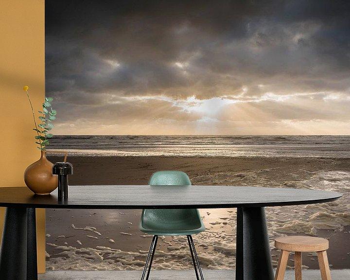 Beispiel fototapete: Zonsondergang in Zandvoort von Mascha Boot
