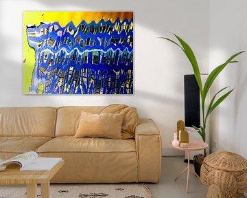 Urban Painting 103 - Blauw! von MoArt (Maurice Heuts)